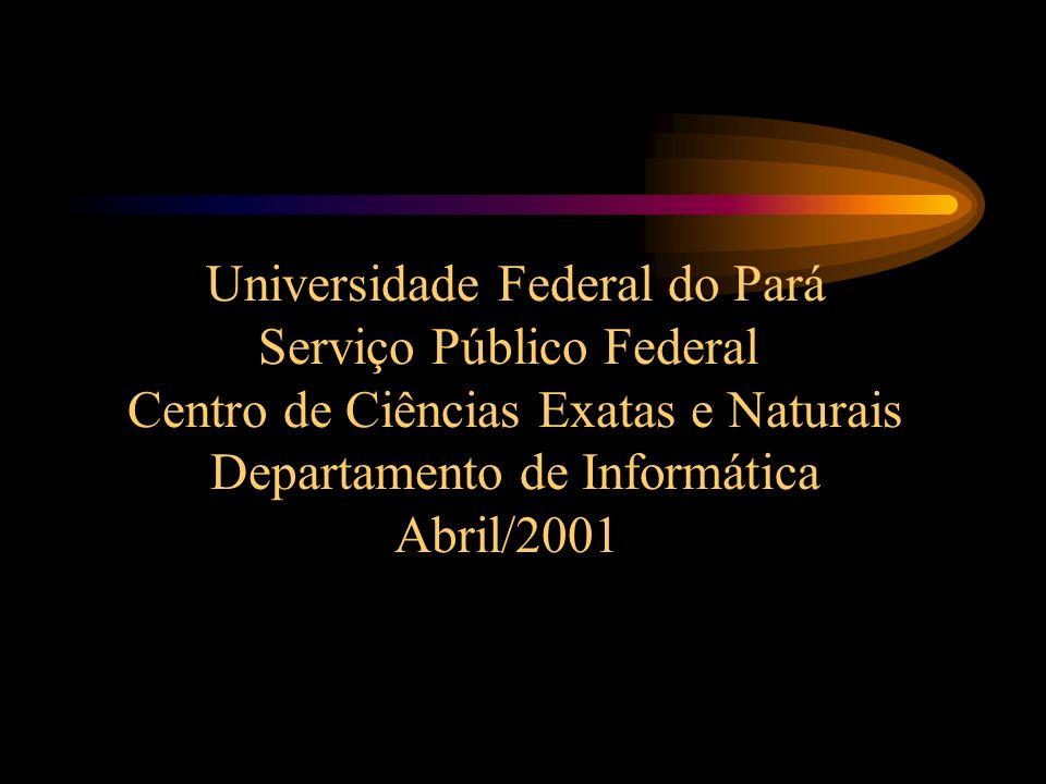 Universidade Federal do Pará Serviço Público Federal Centro de Ciências Exatas e Naturais Departamento de Informática Abril/2001