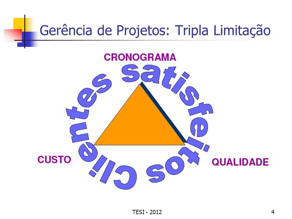 TESI - 20124 Gerência de Projetos: Tripla Limitação