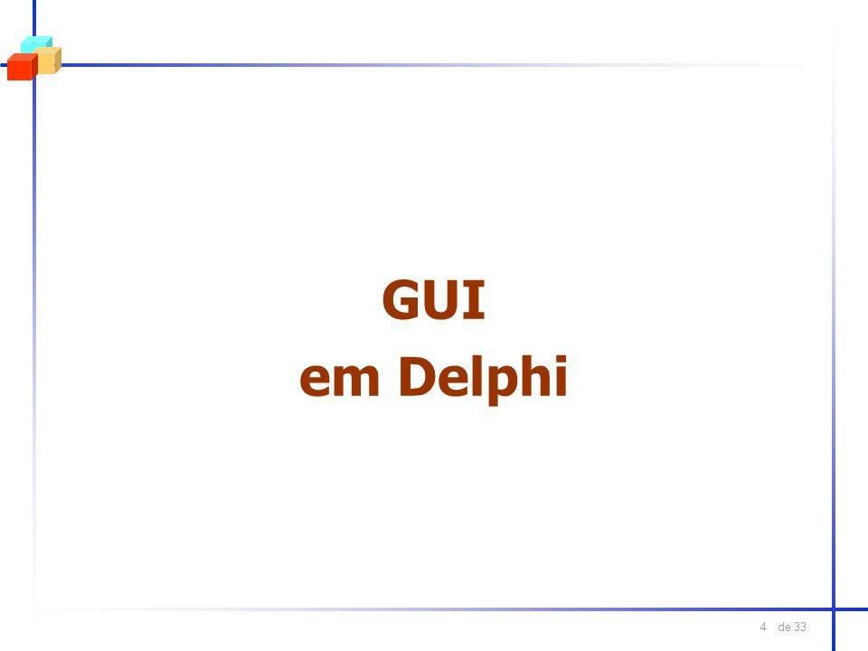 de 33 5 GUI em Delphi l Form Designer