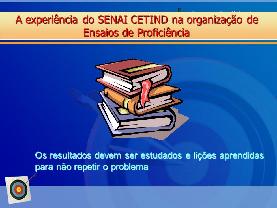 A experiência do SENAI CETIND na organização de Ensaios de Proficiência Os resultados devem ser estudados e lições aprendidas para não repetir o probl