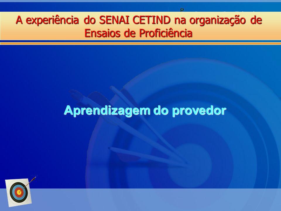 A experiência do SENAI CETIND na organização de Ensaios de Proficiência Aprendizagem do provedor