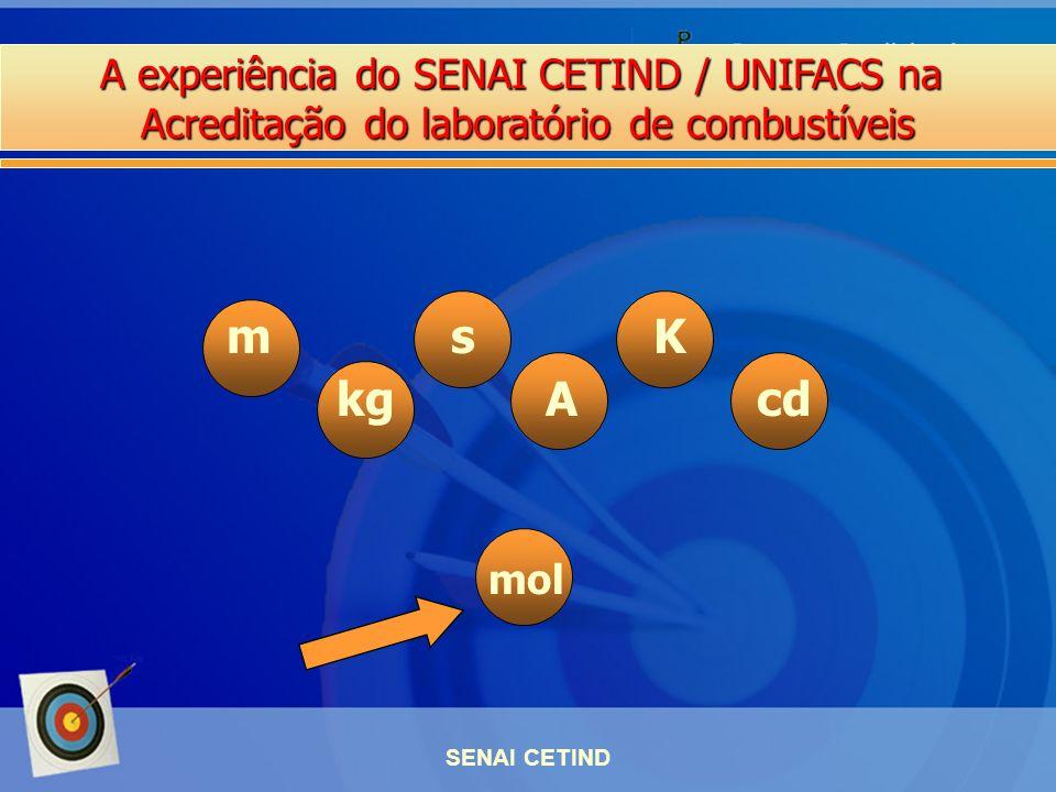 A experiência do SENAI CETIND / UNIFACS na Acreditação do laboratório de combustíveis SENAI CETIND m s K kg A cd mol