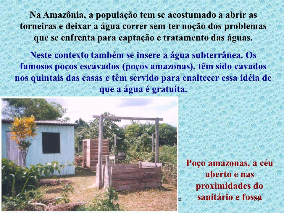 Hidrogeologia - Prof. Milton Matta59 Na Amazônia, a população tem se acostumado a abrir as torneiras e deixar a água correr sem ter noção dos problema