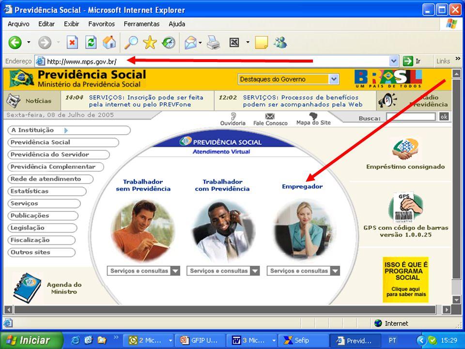 54 GFIP/SEFIP INTERNET:www.mps.gov.brwww.caixa.gov.br