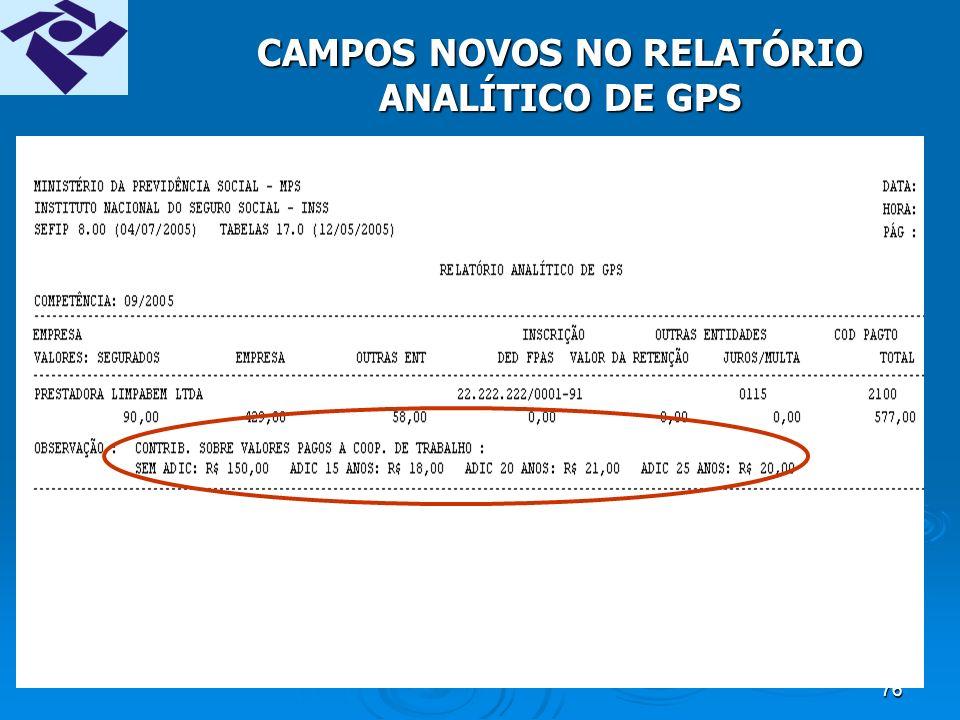 75 CAMPOS NOVOS NO RESUMO
