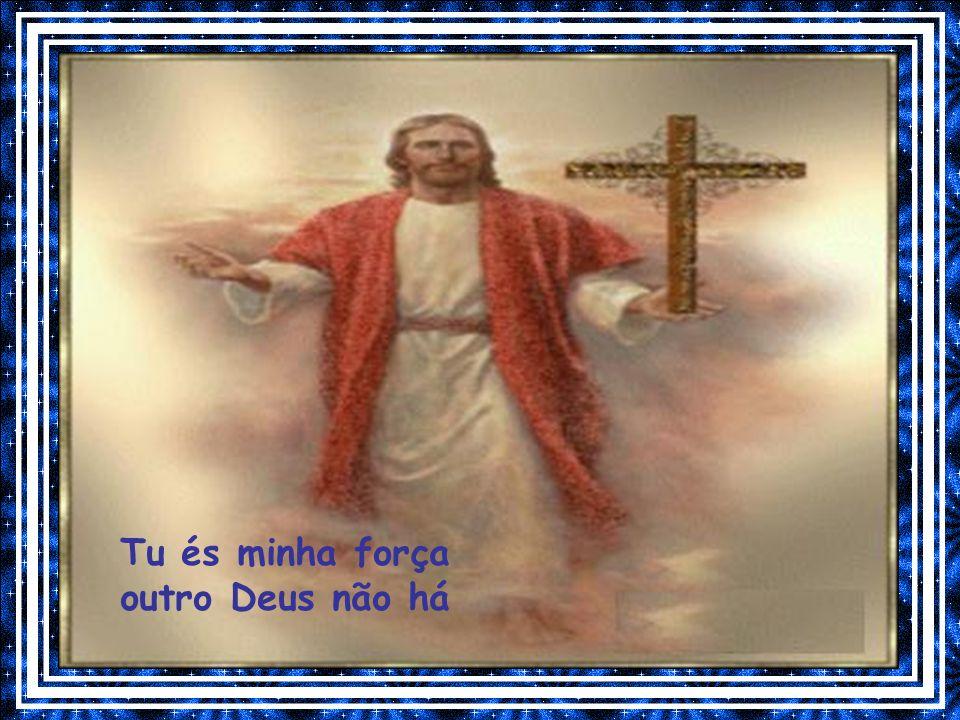 Creio em ti Senhor, vindo de Maria Filho Eterno e Santo, homem como nós Tu morreste por amor, vivo estás em nós Unidade trina com o Espírito e o Pai E