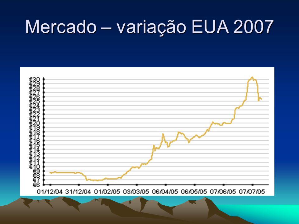 Mercado – variação EUA 2007