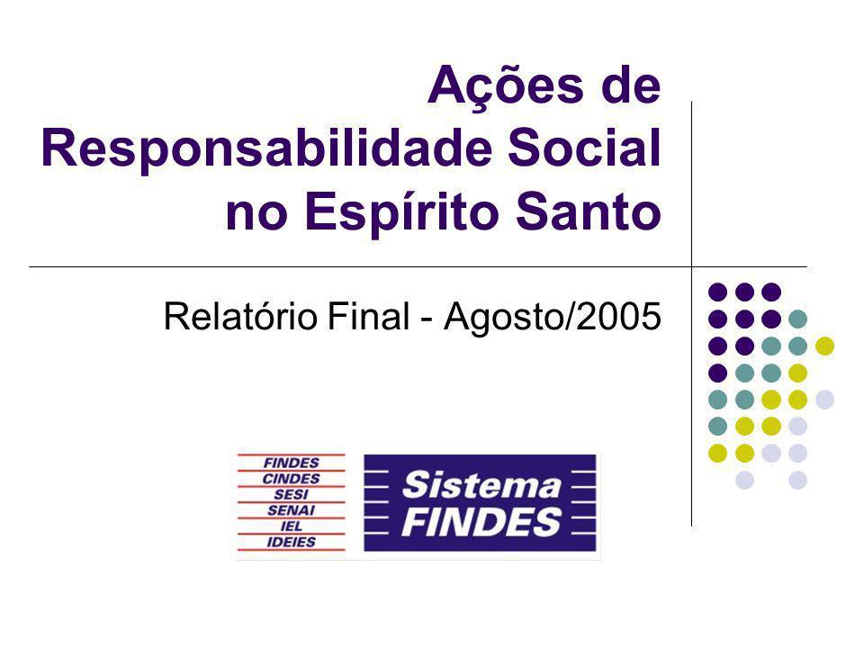 Ações de Responsabilidade Social no Espírito Santo Relatório Final - Agosto/2005