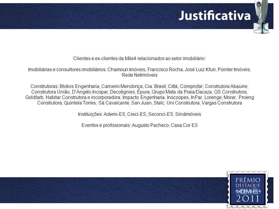 Informativo Città – apuração e edição Revista Imóveis & Negócios – rede Netimóvies: apuração e edição Informativo mensal Ademi –ES: apuração e edição