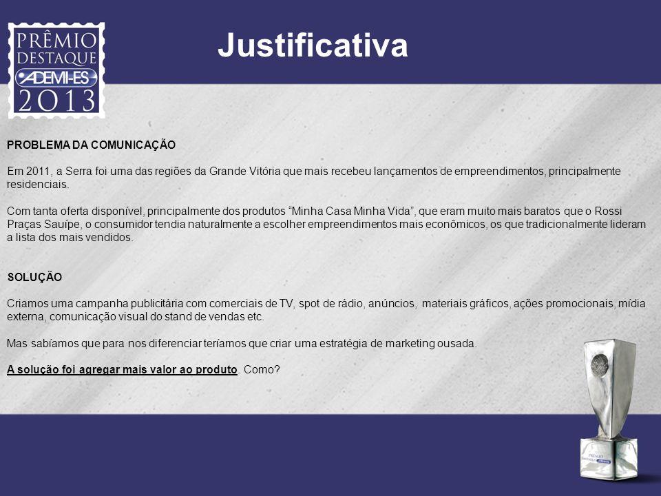 Justificativa PROBLEMA DA COMUNICAÇÃO Em 2011, a Serra foi uma das regiões da Grande Vitória que mais recebeu lançamentos de empreendimentos, principa