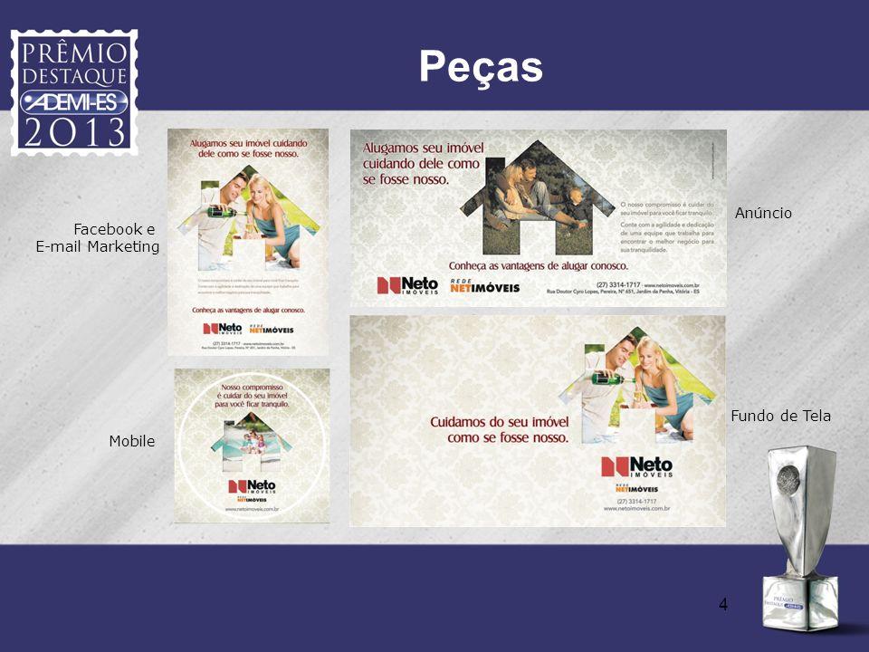 4 Peças Facebook e E-mail Marketing Anúncio Mobile Fundo de Tela