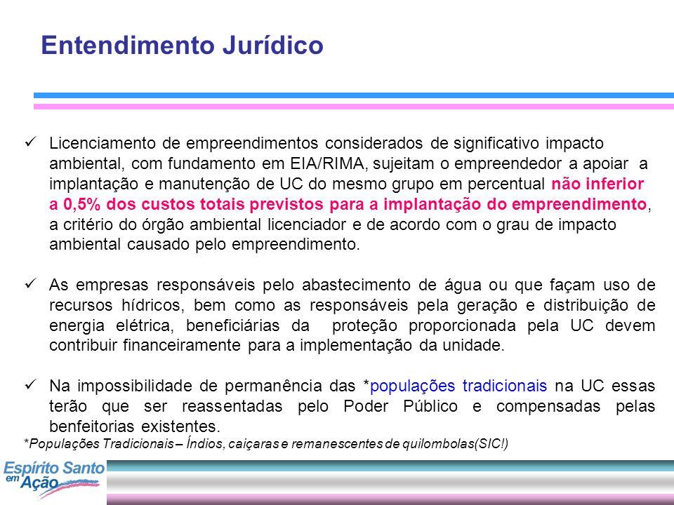 Entendimento Jurídico Licenciamento de empreendimentos considerados de significativo impacto ambiental, com fundamento em EIA/RIMA, sujeitam o empreen