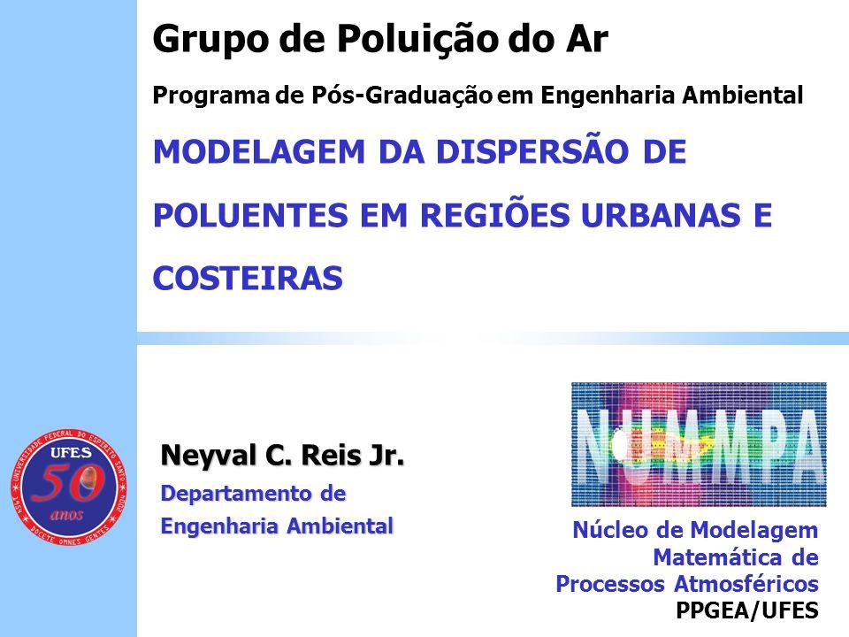 Neyval C. Reis Jr. Departamento de Engenharia Ambiental Grupo de Poluição do Ar Programa de Pós-Graduação em Engenharia Ambiental MODELAGEM DA DISPERS
