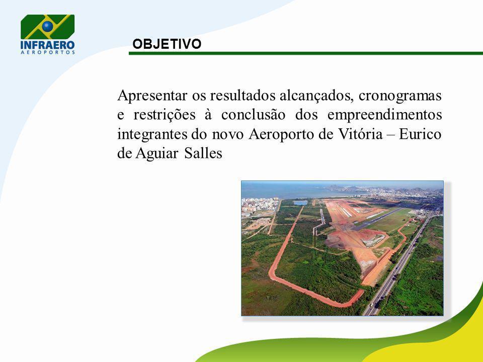 4 HISTÓRICO Início das Obras do novo Aeroporto de Vitória: 03/01/2005.