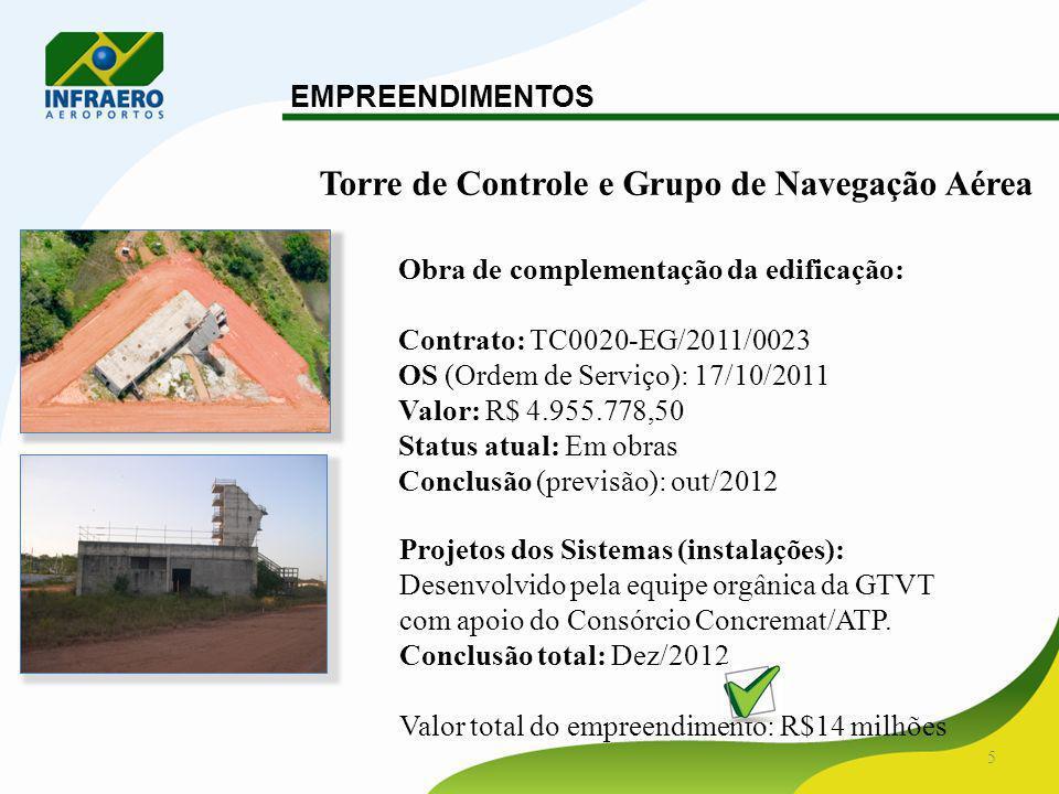 6 EMPREENDIMENTOS Edifício do Corpo de Bombeiros - SCI Obra de complementação da edificação: Licitação: Concorrência 007/ADSE-3/SRSE/2011.