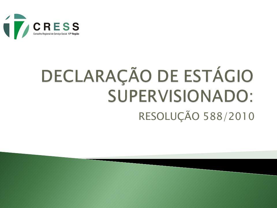 RESOLUÇÃO 588/2010