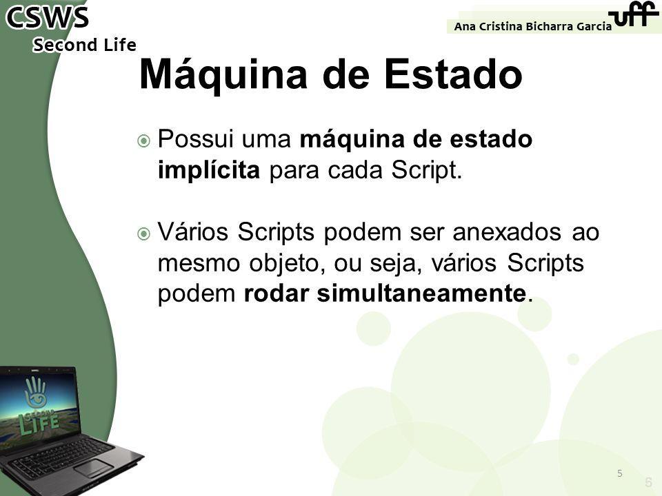 Possui uma máquina de estado implícita para cada Script. Vários Scripts podem ser anexados ao mesmo objeto, ou seja, vários Scripts podem rodar simult