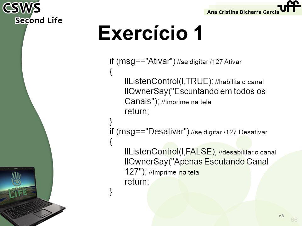 66 Exercício 1 if (msg==
