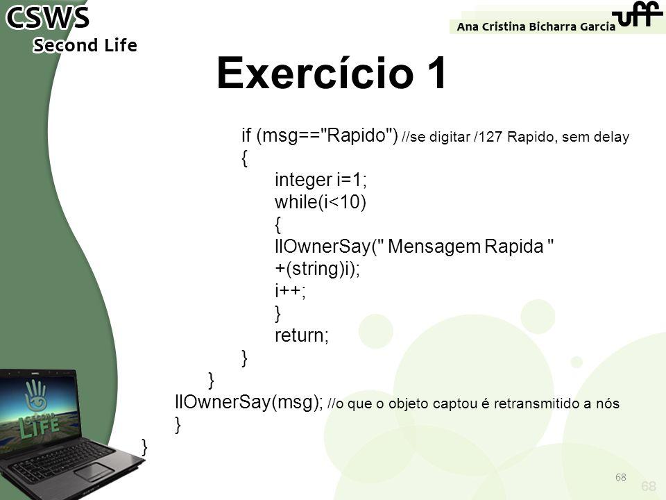 68 Exercício 1 if (msg==