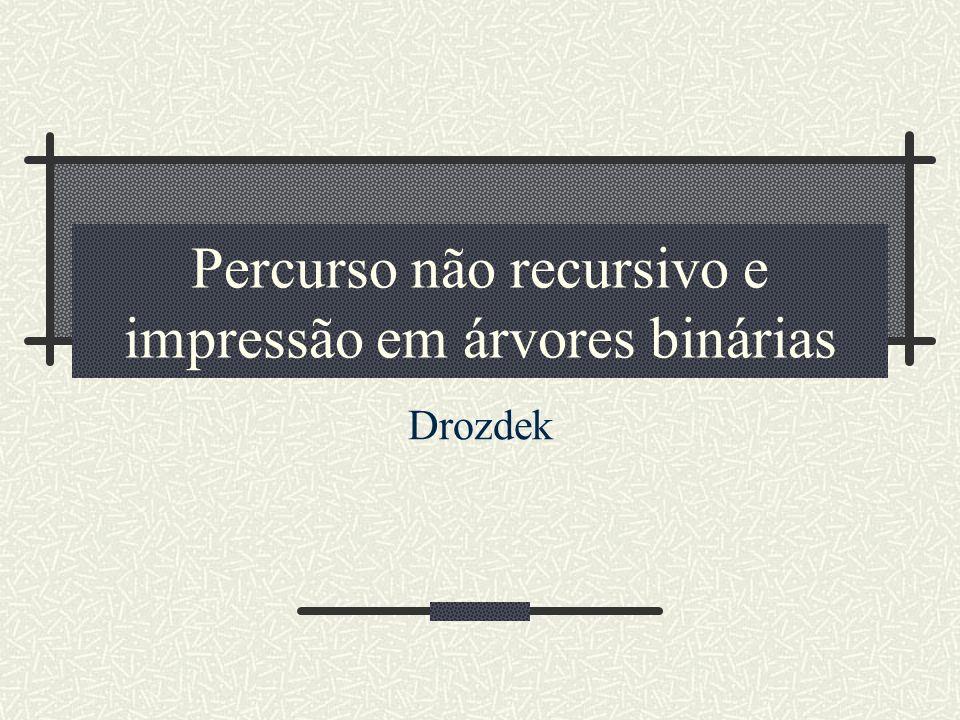 Implementação Java Drozdek