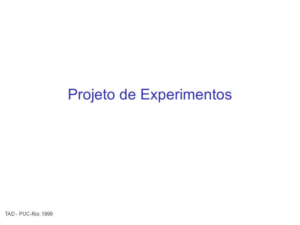 TAD - PUC-Rio, 1999 Projeto de Experimentos