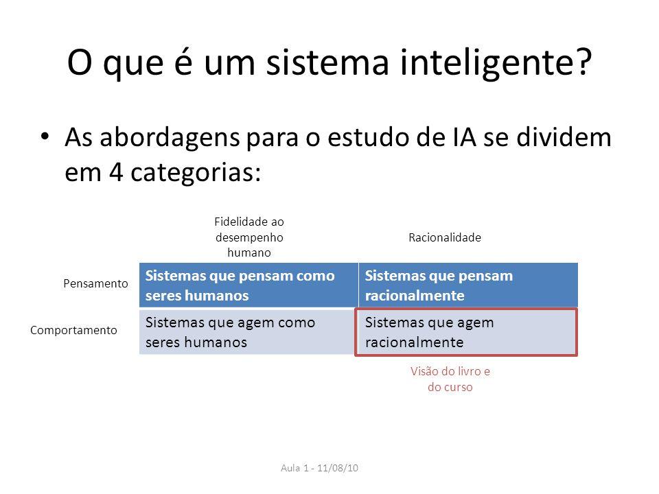 Aula 1 - 11/08/10 O que é um sistema inteligente.