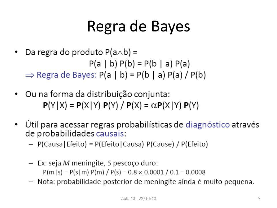 Aula 13 - 22/10/10 Regra de Bayes 9