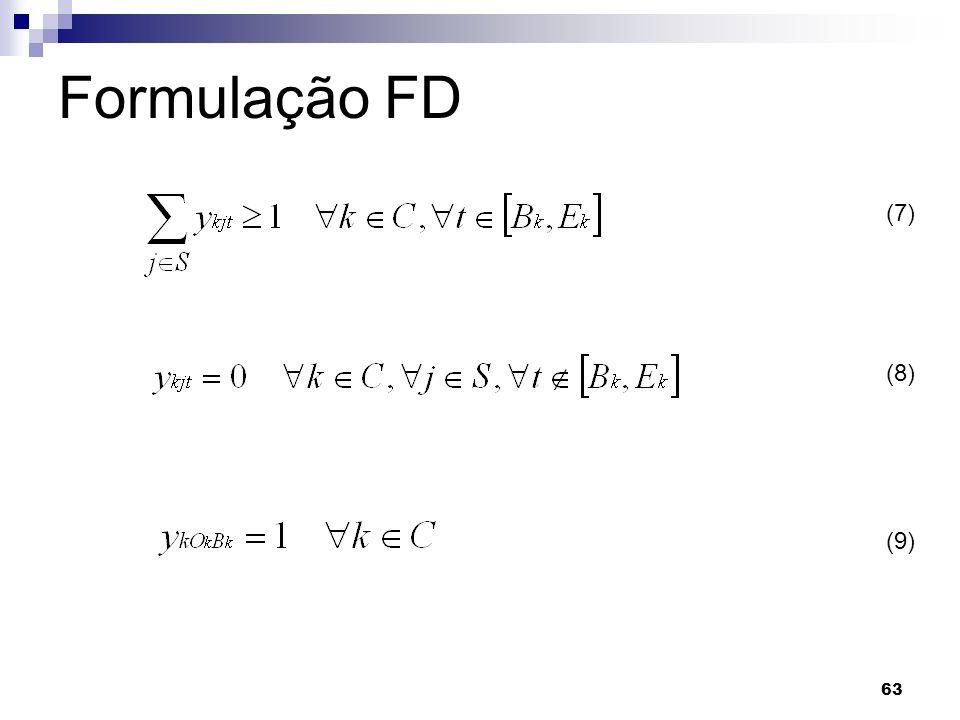 63 Formulação FD (7) (8) (9)