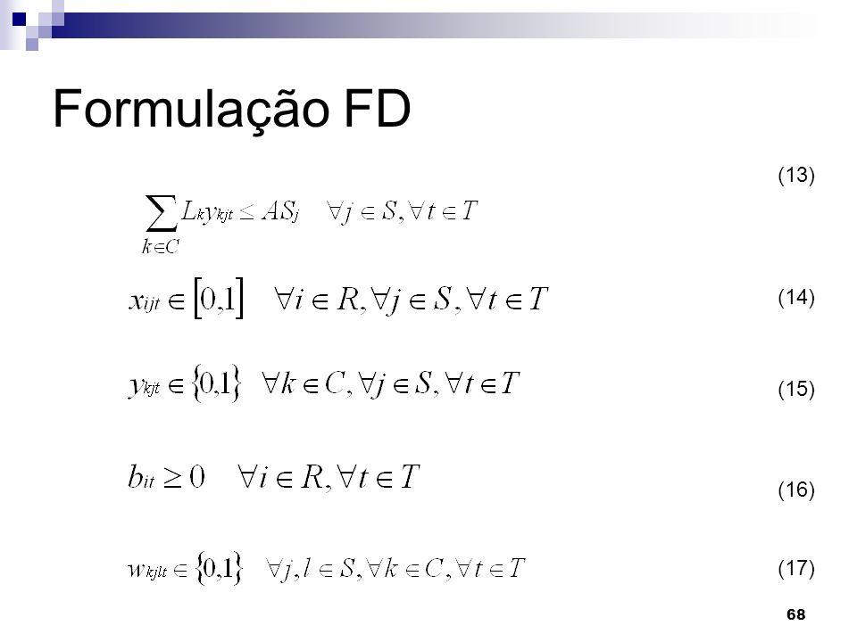 68 Formulação FD (13) (14) (15) (16) (17)