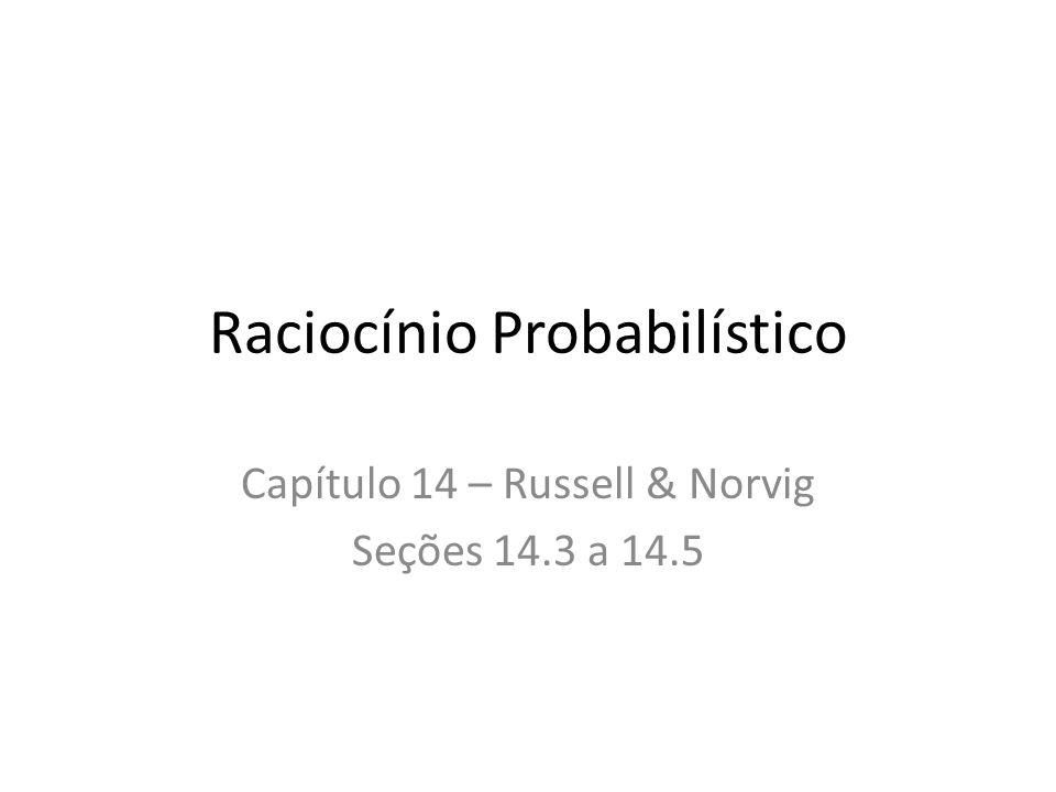 Raciocínio Probabilístico Capítulo 14 – Russell & Norvig Seções 14.3 a 14.5