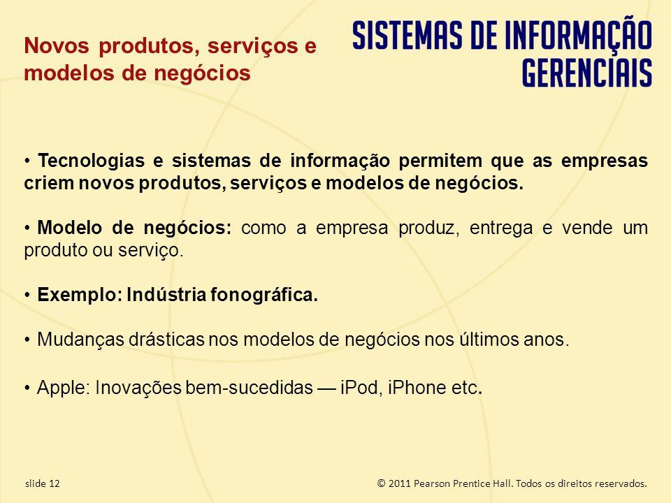 1.12 Copyright © 2011 Pearson Education, Inc. publishing as Prentice Hall © 2011 Pearson Prentice Hall. Todos os direitos reservados.slide 12 Tecnolog
