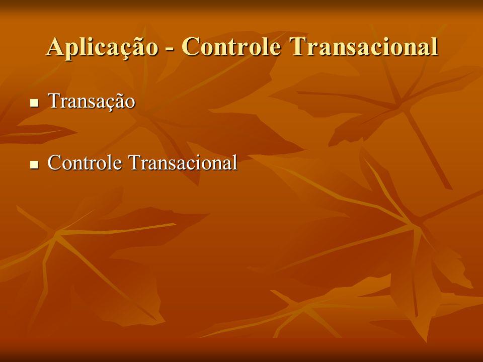 Aplicação - Controle Transacional Transação Transação Controle Transacional Controle Transacional