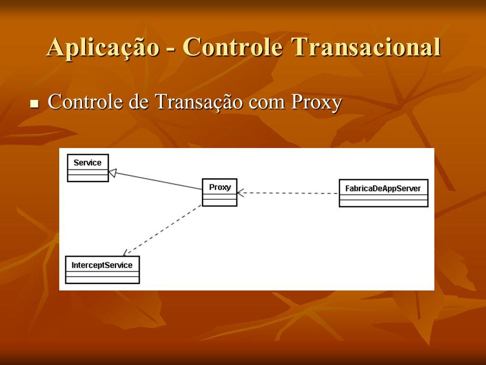 Aplicação - Controle Transacional Controle de Transação com Proxy Controle de Transação com Proxy
