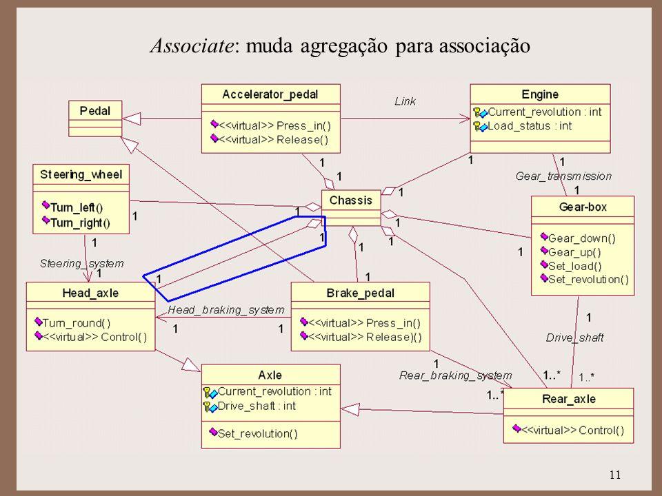 11 Associate: muda agregação para associação