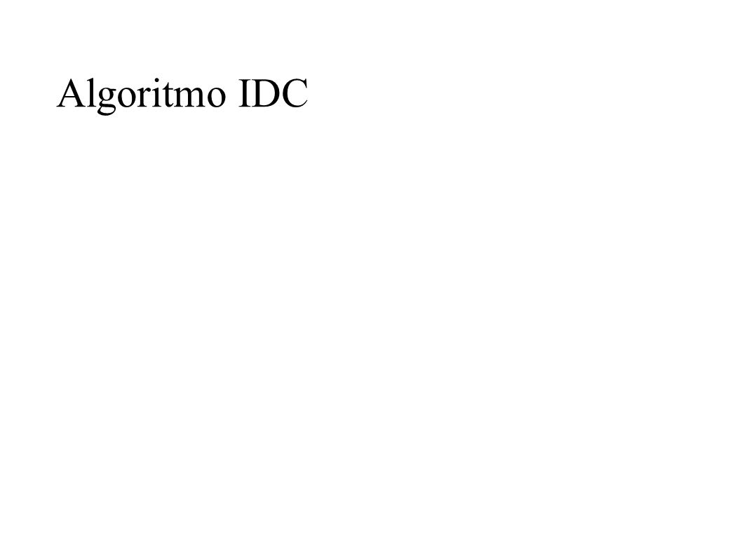 Algoritmo IDC