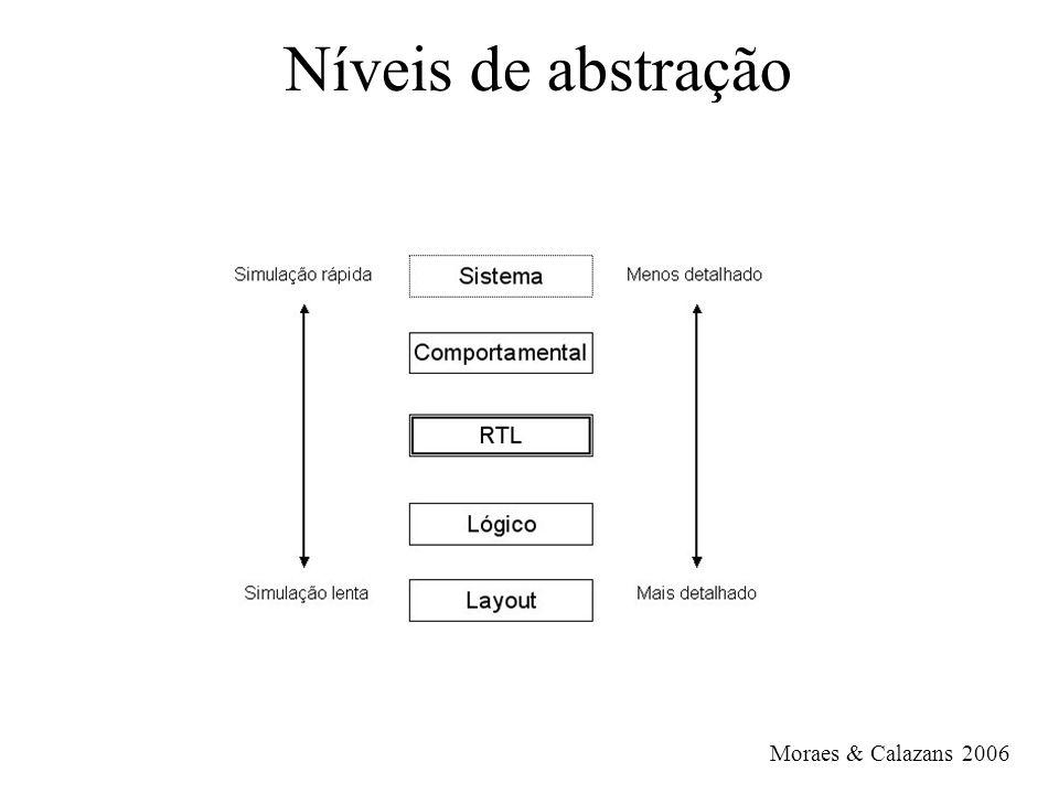 Arrays coleção de elementos de mesmo tipo –type array_name is array (indexing scheme) of element_type; type WORD1 is array (15 downto 0) of std_logic; type WORD2 is array (0 to 15) of std_logic; type FRAME1 is array (0 to 7) of integer; type MEMORY is array (address) of WORD1; –preenchimento de array: type a is array (1 to 4) of character; posicional: (l , e , s , s ) por nome: (1 => l , 3 => s , 2 => e , 4 => s ) valores default: (l , e , others => s)