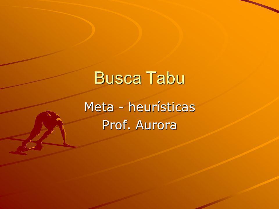 Busca Tabu Meta - heurísticas Prof. Aurora