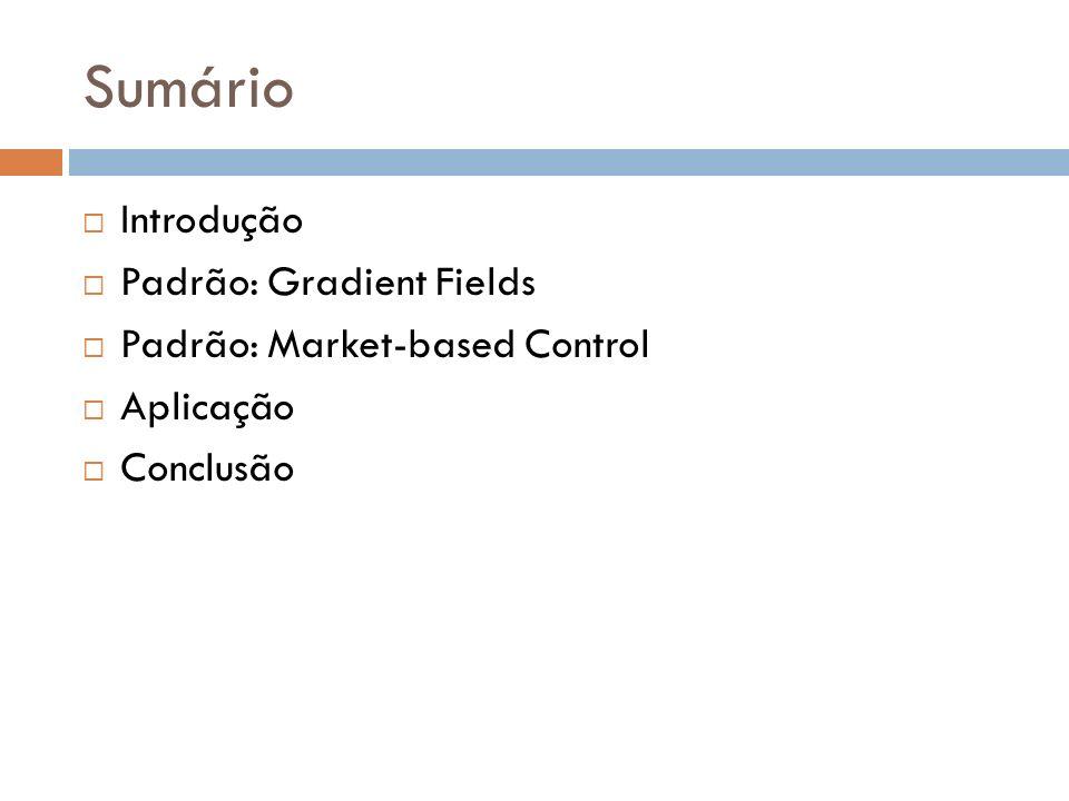 Sumário Introdução Padrão: Gradient Fields Padrão: Market-based Control Aplicação Conclusão