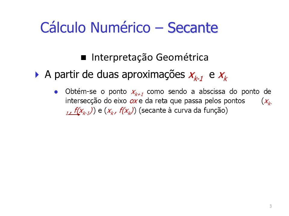 14 Assim: x 4 = [x 2.f(x 3 ) – x 3.