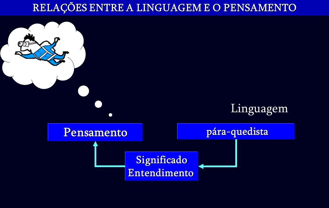 RELAÇÕES ENTRE A LINGUAGEM E O PENSAMENTO pára-quedista pára-quedistaPensamento Linguagem SignificadoEntendimento