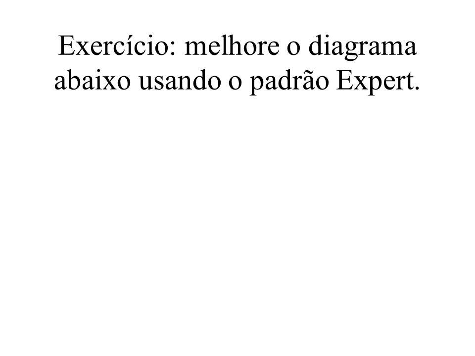 Exercício: melhore o diagrama abaixo usando o padrão Expert.