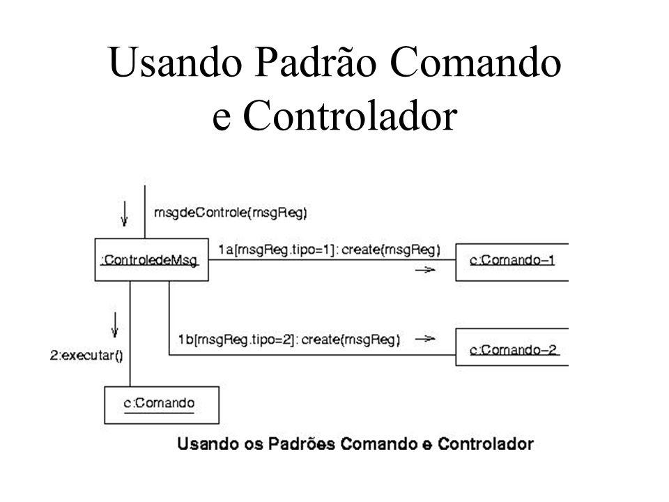 Usando Padrão Comando e Controlador