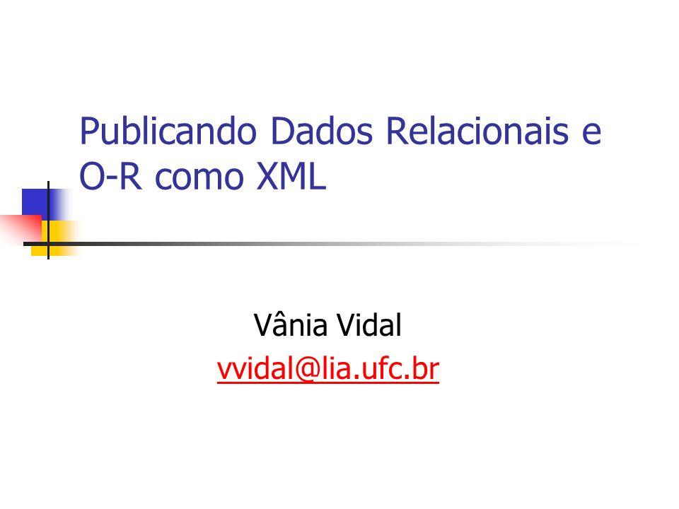 2 Introdução XML tornou-se um padrão para troca e integração de dados na WEB.