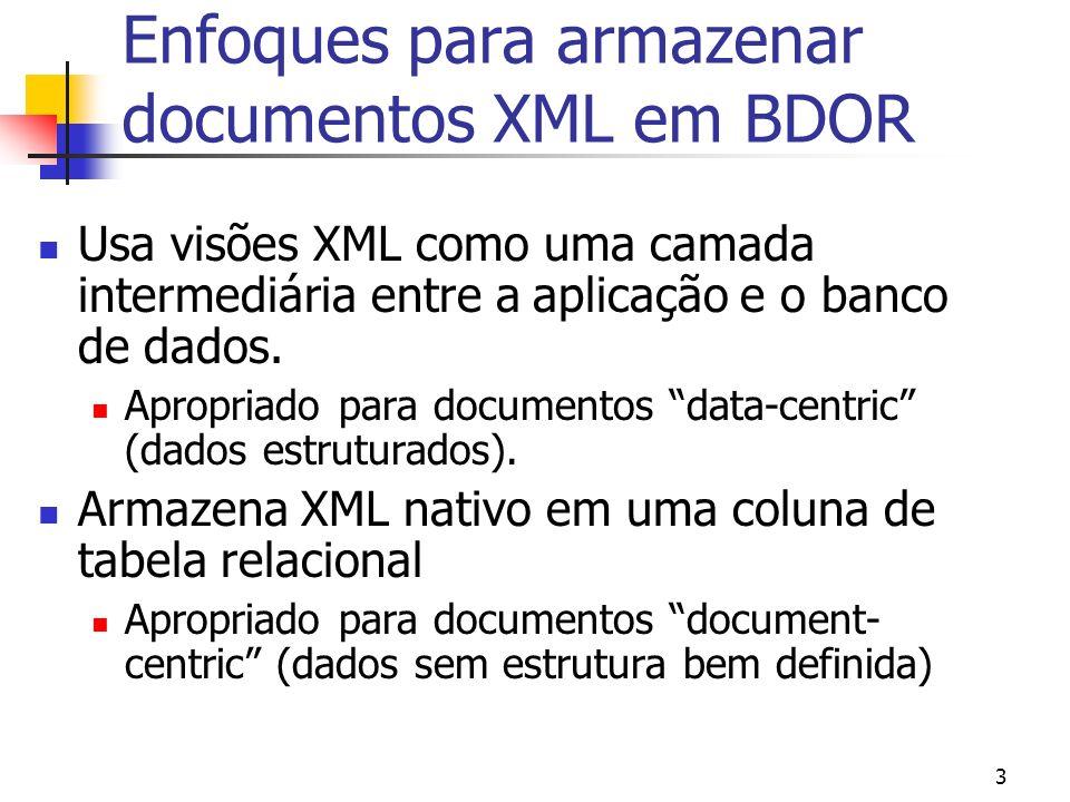4 Aula de hoje Como criar visões XML de BDOR Oracle através do XSQL Pages Publishing Framework