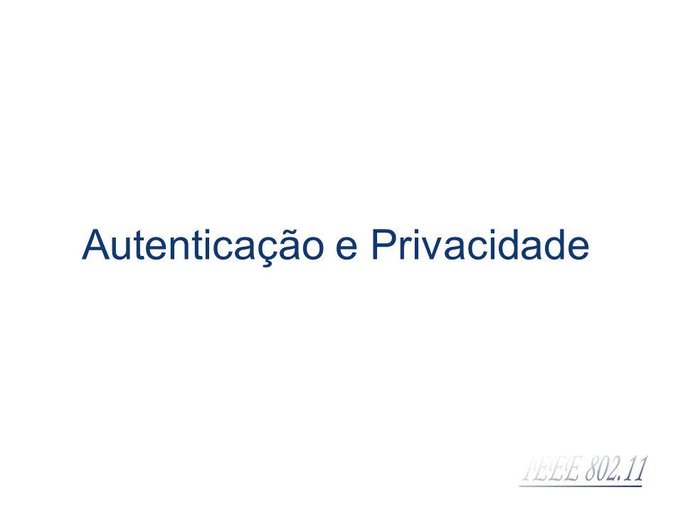 Autenticação e Privacidade