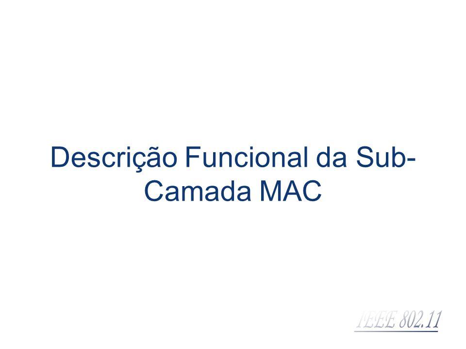 Descrição Funcional da Sub- Camada MAC