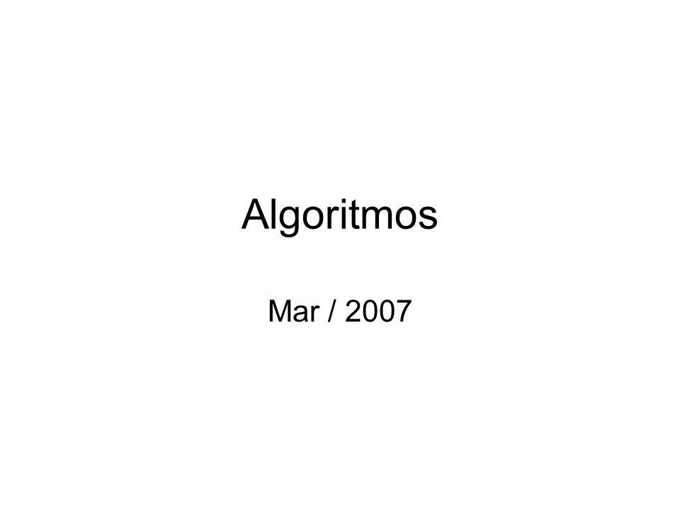 Algoritmos...