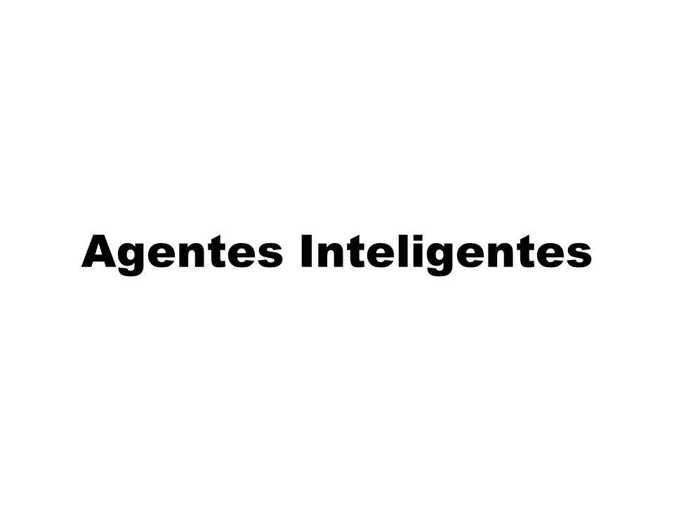 IA 13/10/1012 Agente racional Uma agente racional para o mundo do aspirador de pó: MD: 1 pt para cada quadrado limpo em uma unidade de tempo, por 1.000 períodos Conhece a geografia do ambiente, mas não sabe onde tem sujeira e nem a posição inicial.