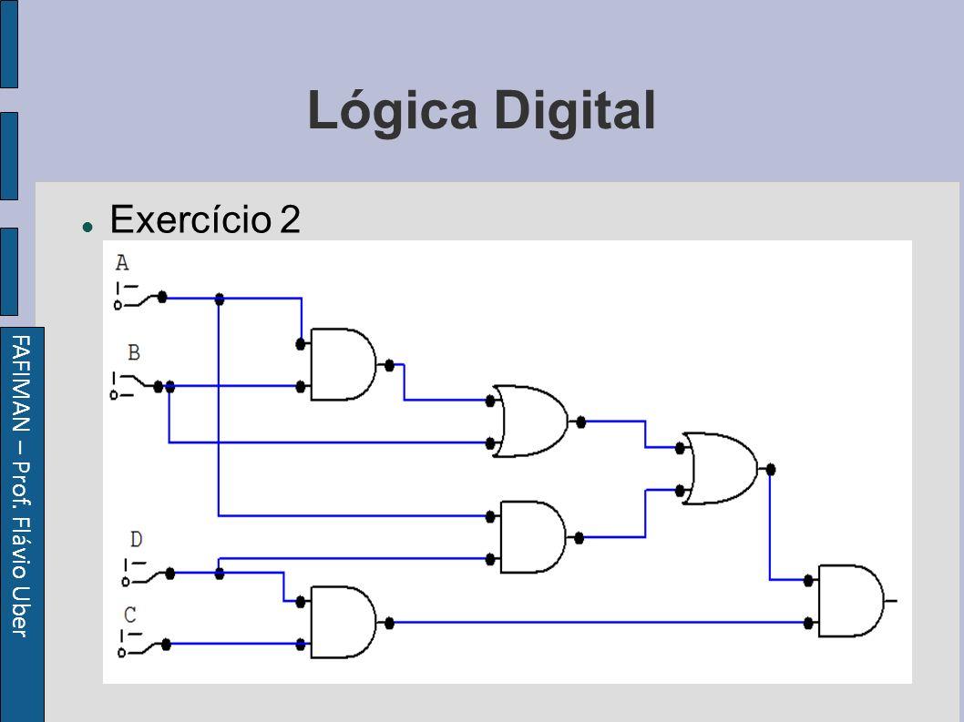FAFIMAN – Prof. Flávio Uber Lógica Digital Exercício 2