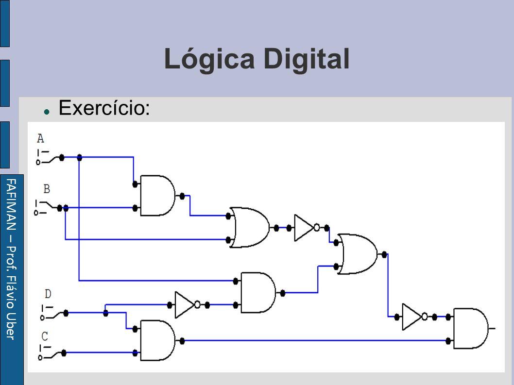 FAFIMAN – Prof. Flávio Uber Lógica Digital Exercício: